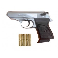Стартовый пистолет Ekol Major, цвет хром, Турция + патроны 10 шт