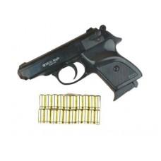Стартовый пистолет Ekol Major Export, черный цвет, Турция + патроны 10 шт