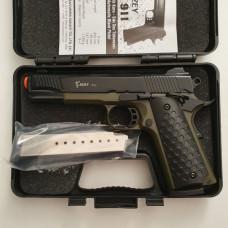 Стартовый пистолет KUZEY-911, черный цвет black/green, Турция