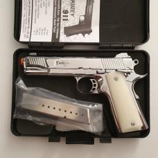 Стартовый пистолет KUZEY-911,  цвет хром, Турция