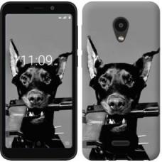 """Силиконовый чехол """"Доберман"""" для смартфона Meizu C9, под заказ 2-3 дня"""
