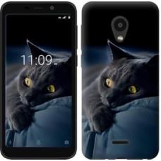 """Силиконовый чехол """"Дымчатый кот"""" для смартфона Meizu C9, под заказ 2-3 дня"""