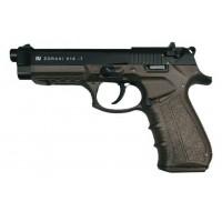 Стартовый пистолет Zoraki 918-T Export,  черный цвет, ручка хаки, Турция